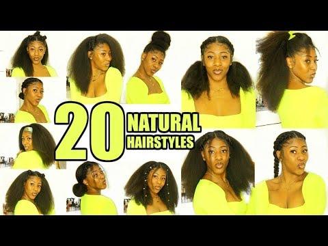 20 NATURAL HAIRSTYLES