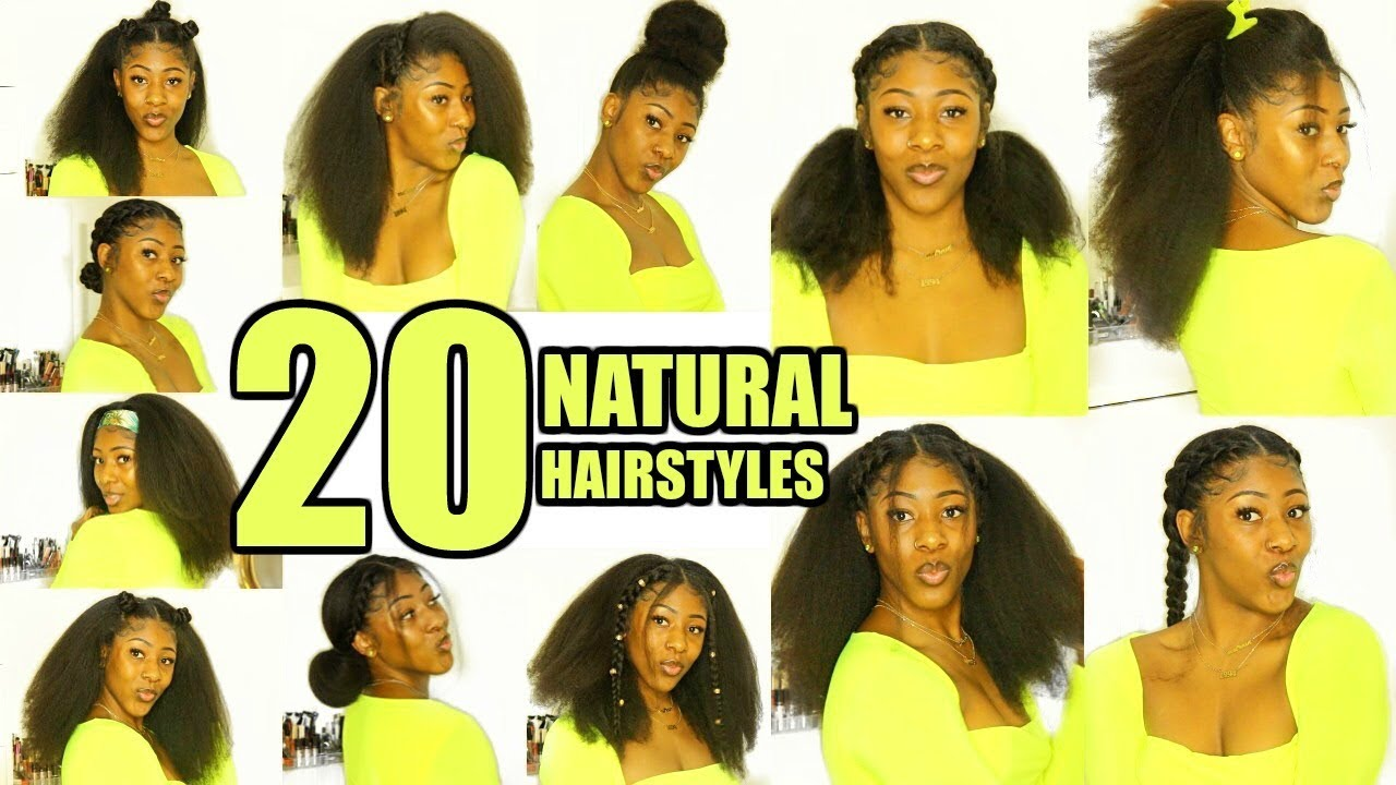 20 Natural Hairstyles Youtube