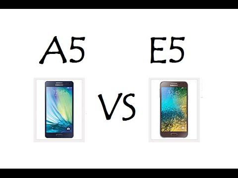 Galaxy A5 vs Galaxy E5 / Comparativo de Características - Brasil