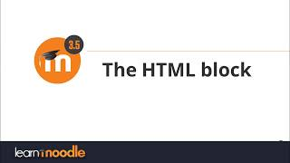 The HTML block Moodle 3.5 Mp3