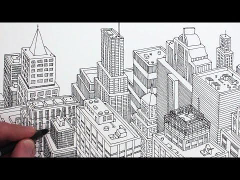 how-to-draw-a-city-in-3d:-planometric-drawing