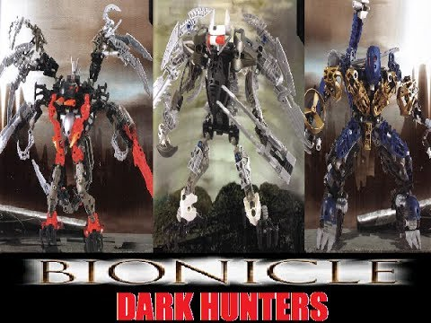 All BIONICLE Dark Hunters past and present