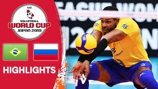 BRAZIL vs. RUSSIA - Highlights | Men's Volleyball World Cup 2019