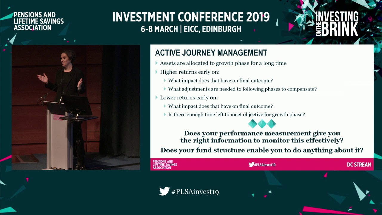 Passive v active investing for DC investors  At PLSA Investment Conference  2019