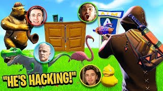 They Thought I was HACKING In Prop Hunt! w/ Miniminter, Wiz & Theo
