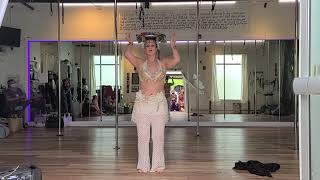 Ariadne's Fusion Belly Dance performance at the Shimmy and Swap Hafla, May 2021.
