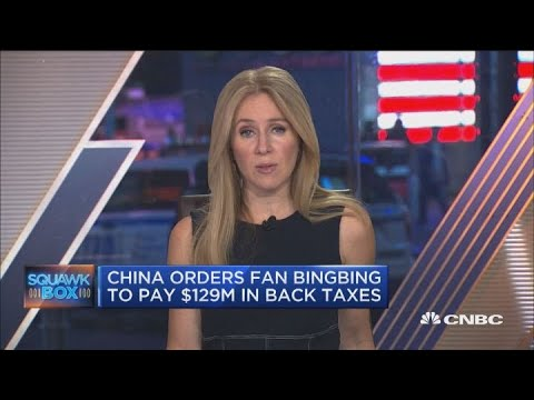 China orders Fan Bingbing to pay $129 million in back taxes