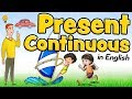 Present Continuous In English For Kids - What Are You Doing?