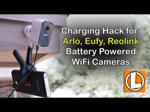 Charging Hack For Battery WiFi Home Security Cameras