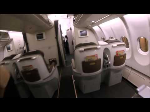 South African Airways (SAA) A330 business and economy class tour