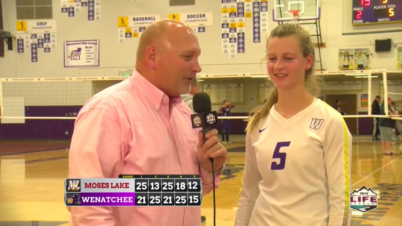 Wenatchee vs Moses Lake Volleyball Highlights 2019-10-23