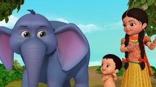 Enugu Raja Enugu - The Elephant Song | telugu Rhymes for Children | Infobells