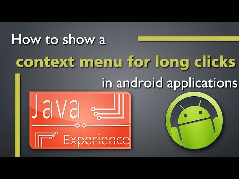 Show A Context Menu For Long Clicks In An Android ListView