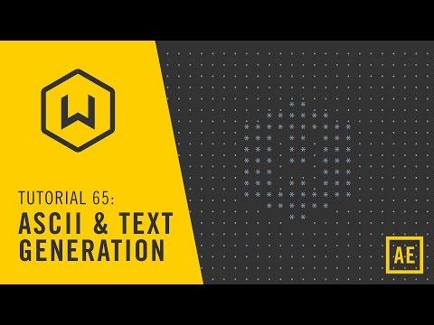Tutorial 65: ASCII and Text Generators