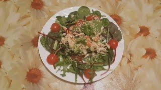 Салат с курицей и имбирем