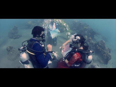 "Harsh & Roshini, a.k.a. ""Salt & Sugar"", Underwater Wedding Ceremony!!!"