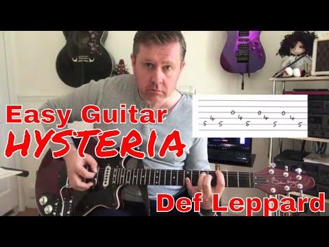 Easy Guitar - Hysteria - Def Leppard - Guitar Lesson (Guitar Tab)