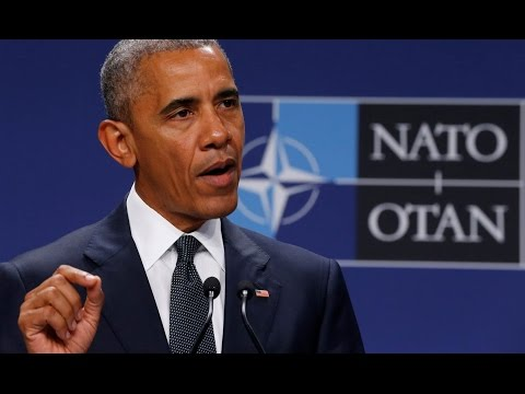 President Obama Speaks at NATO News Conference Summit in Warsaw