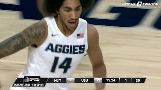 NCAAB 2016 New Jersey Tech at Utah State 1st Half