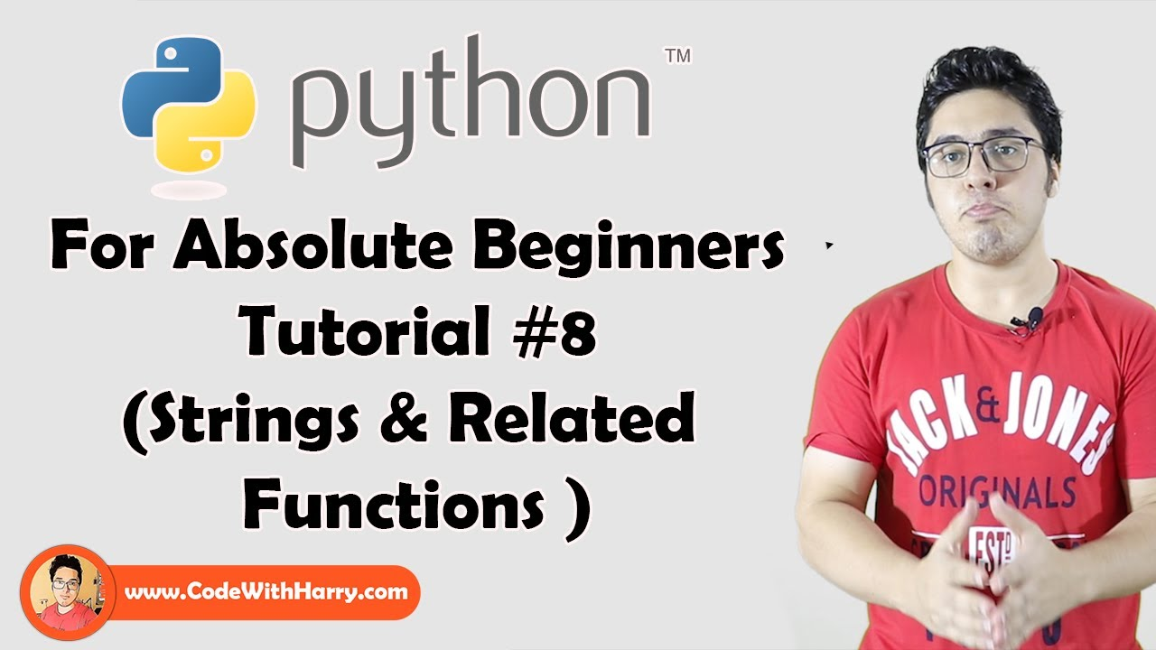 Download String Slicing And Other Functions In Python | Python Tutorials For Absolute Beginners In Hindi #8