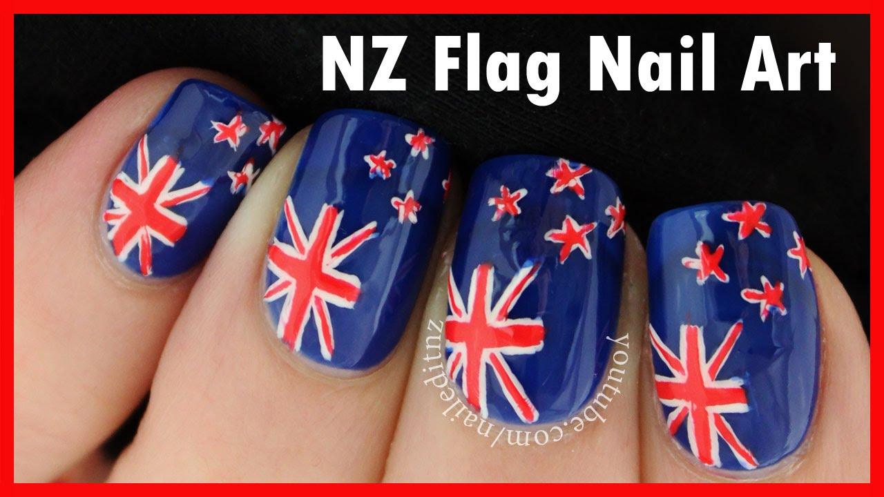 New Zealand Flag Nail Art - YouTube