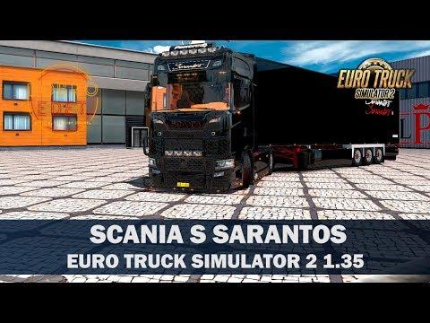 ✅Обзор мода Scania S730  Sarantos ETS2 1.35