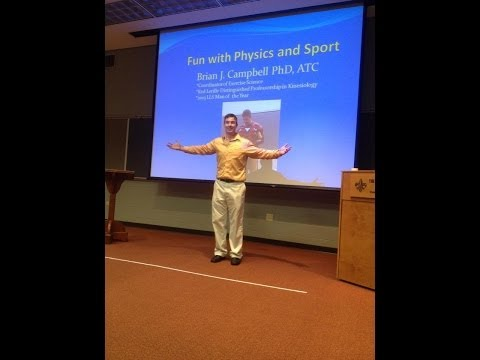 Dr Brian Campbell lecture: Fun with Physics and Sports