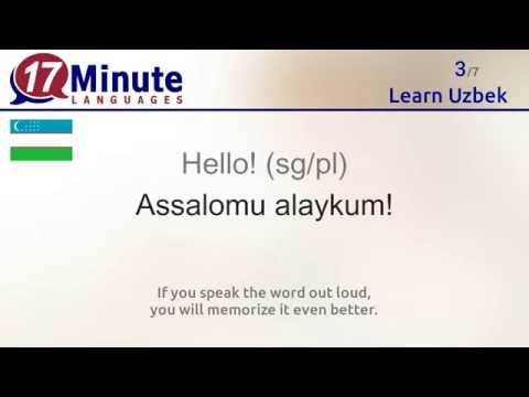 Learn Uzbek (free language course video)