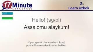 Learn Uzbek (free language course video) screenshot 4