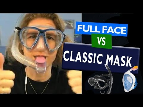 "Why you should use the ""Traditional mask"" vs ""Full face mask"" when snorkeling"