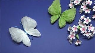 (ペーパーポンポン)簡単で可愛い!蝶々の作り方【DIY】How to make butterflies