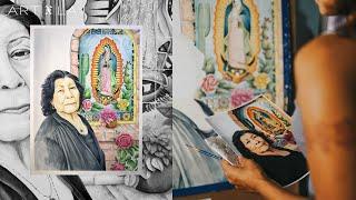 """Watercolor portrait painting, titled """"Te Amo"""""""
