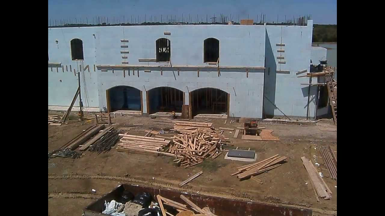 New Icf House Construction Youtube