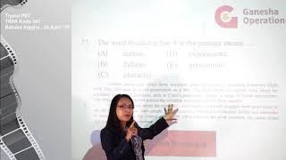 Full Video Pembahasan Try Out Super Intensif SBMPTN Bahasa Inggris