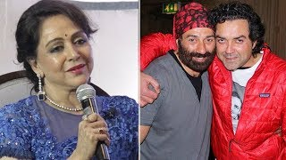 Hema Malinis FIRST Open COMMENTS on stepsons Sunny & Bobby Deol