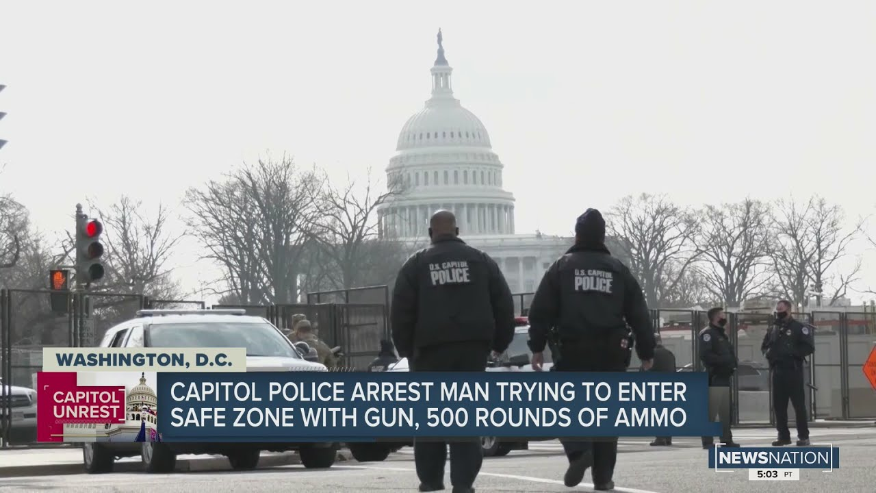 Man Arrested with Gun, 500 Rounds of Ammo at US Capitol Checkpoint Released!?  [VIDEO]