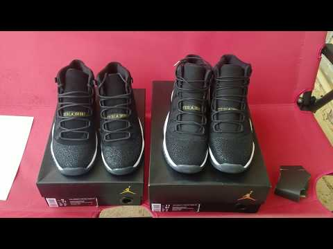 Nike Vs China!!! Jordan 11 Black Stingray Ratchet Comparison