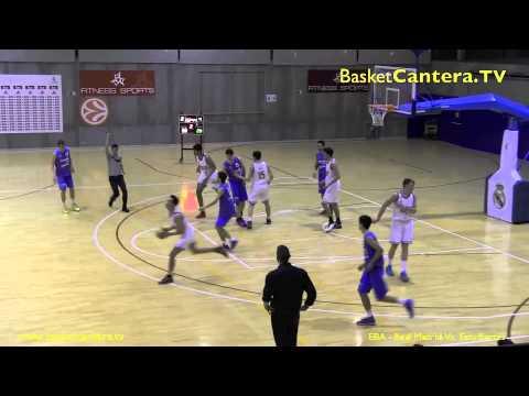 "Derbi ""EBA"" REAL MADRID vs. ESTUDIANTES.- Competición madrileña (8-3-2015) BasketCantera.TV"