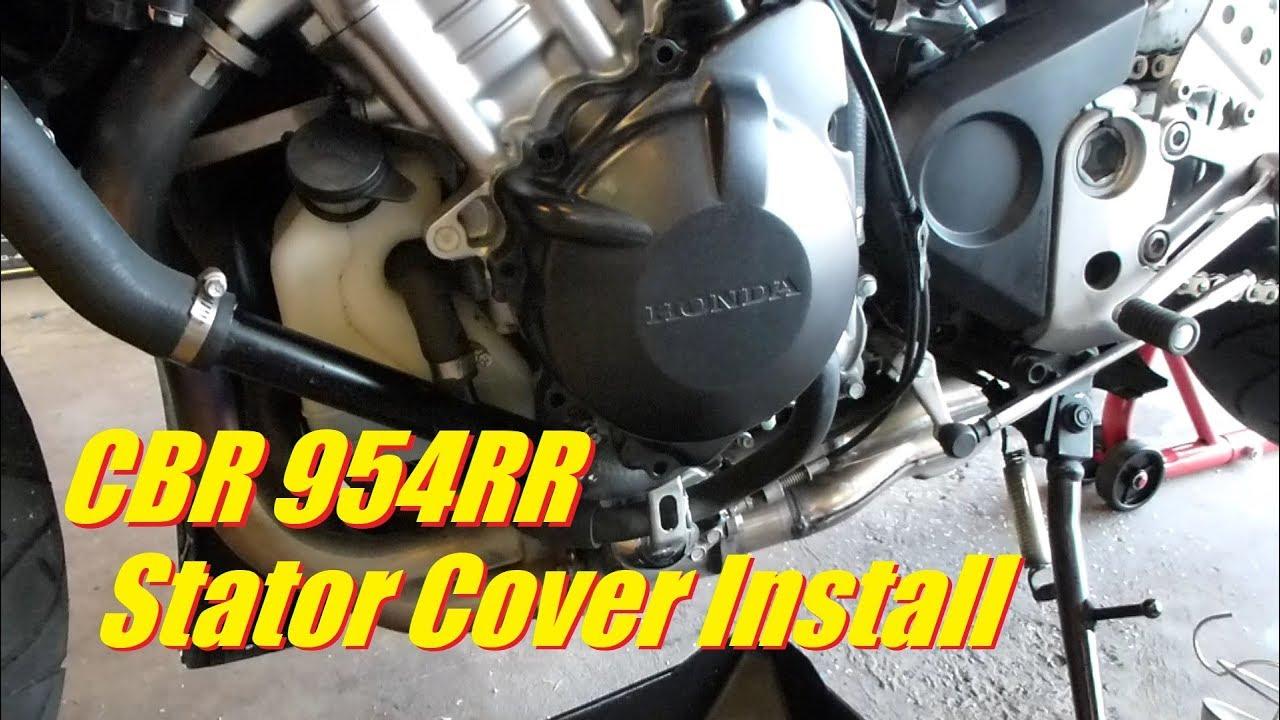 Remove Install Stator Cover Fairing On Honda Cbr 954rr