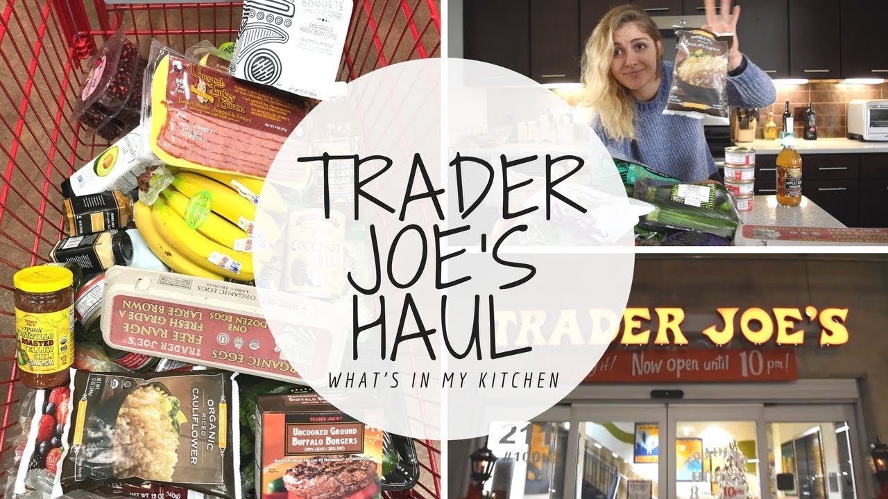 TRADER JOE\'S HAUL | Healthy Grocery Shopping List - YouTube
