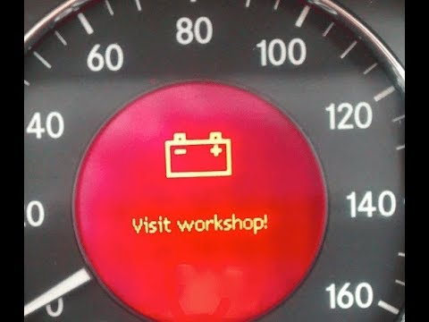 BATTERY VISIT WORKSHOP Warning Light on Mercedes (SOLVED!)