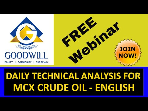 MCX CRUDE OIL TRADING TECHNICAL ANALYSIS AUG 19 2016 IN ENGLISH