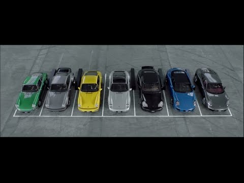 Creating a symphony with 7 generations of Porsche 911