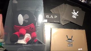 Unboxing B.A.P 비에이피 LIVE ON EARTH 2014 Merchandise [Polaroids, Postcard Set, Pop Card & Matoki Doll]