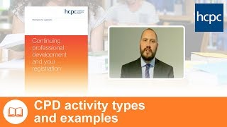 CPD activity types and examples