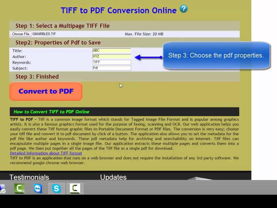 Tif to pdf online