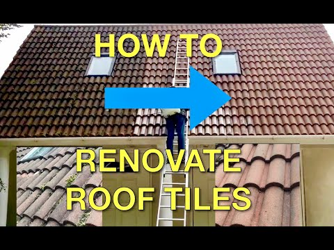 How to Renovate Roof Tiles - Klll Moss & Restore Colour