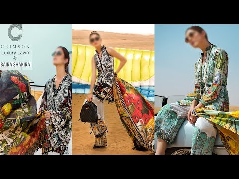 efded37a6f Crimson Luxury Lawn by Saira Shakira SS 2018 - YouTube