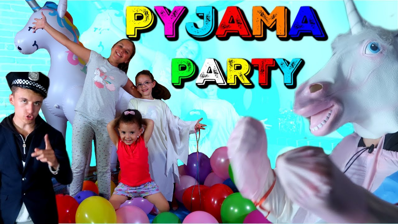 PYJAMA PARTY avec PINK LILY VIDEO + ( LICORNE et POLICE) challenge