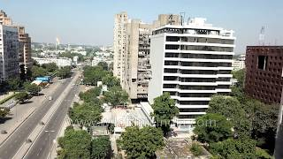 Barakhamba Road: Aerial journey of Central Delhi